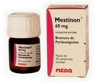 Mestinon (pyridostigmine) dragees tegen myasthenia gravis