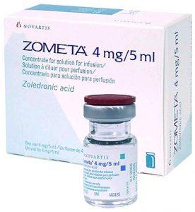 Zometa (zoledroninezuur) infusievloeistof