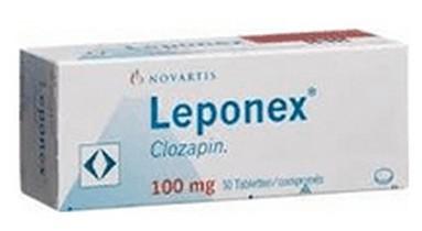Leponex (clozapine) 100 mg tabletten verpakking