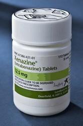 Xenazine (tetrabenazine) tabletten voor behandeling van de ziekte van Huntington