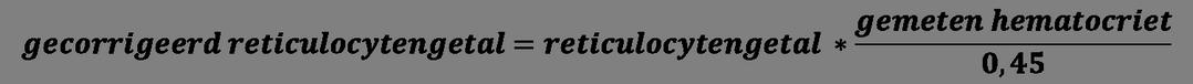gecorrigeerd reticulocytengetal