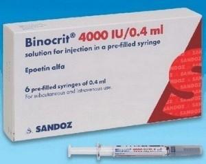 Binocrit (epoëtine-alfa) injectie als voorbeeld voor hematopoëtische groeifactoren als medicijn