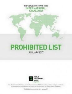 WADA lijst van verboden doping middelen