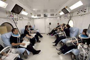hyperbare zuurstoftherapie - kamer met meerdere behandelplaatsen