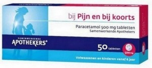 paracetamol bij voorhoofdsholteontsteking