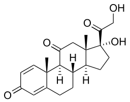 prednison molecuulstructuur