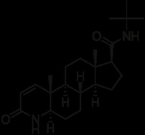 finasteride - molecuulstructuur