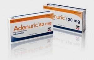 Adenuric (febuxostat) voor behandeling verhoogd urinezuur gehalte bij jicht