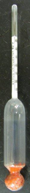 Urinometer voor het bepalen van het soortelijk gewicht van urine