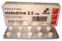 midodrine tabletten bij orthostatische hypotensie