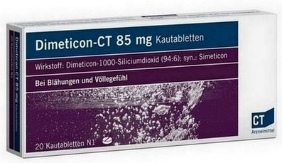 syndroom van Roemheld - verminderen gas in de darmen met dimeticon