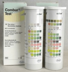 urine teststrips kunnen worden gebruikt om soortelijk gewicht urine te bepalen