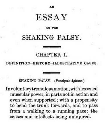 An essay on the shaking palsy - Dr James Parkinson (1755-1824) - eerste publicatie over de ziekte van Parkinson