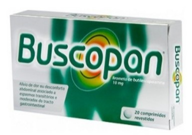 Buscopan (butylscopolamine) verpakking