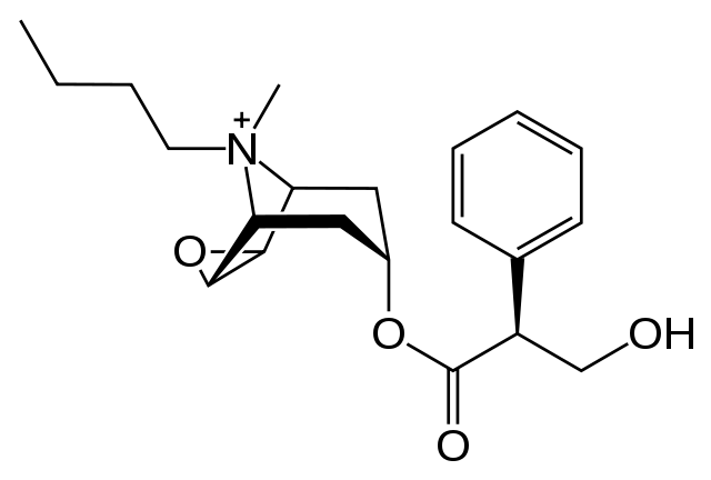 butylscopolamine molecuulstructuur