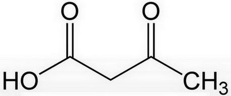 ketonen in urine - acetoazijnzuur structuurformule