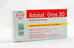 Adalat OROS - nifedipine tablet met gereguleerde afgifte