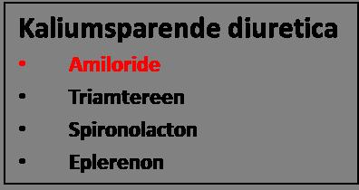 amiloride is een kaliumsparend diureticum