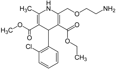 amlodipine molecuulstructuur