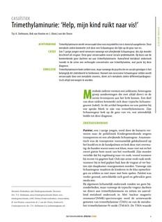 vissegeursyndroom (trimethylaminurie) - artikel in het NTVG