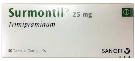 Surmontil (trimipramine) verpakking