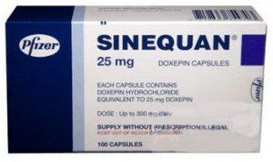 verpakking Sinequan (doxepine) capsules