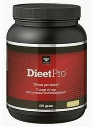 afvallen met shakes - verpakking Dieet Pro (klein)