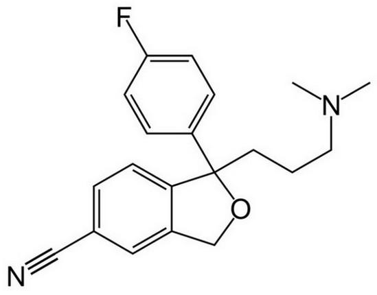 citalopram molecuulstructuur