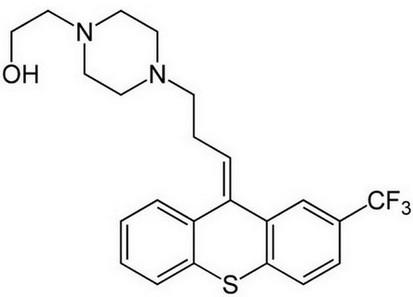 flupentixol molecuulstructuur