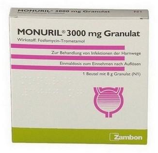 verpakking Monuril (fosfomycine granulaat)