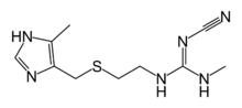 cimetidine molecuulstructuur