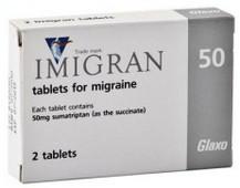 verpakking Imigran (sumatriptan) tabletten