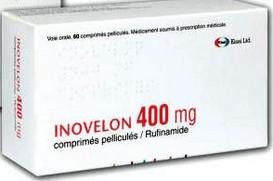 verpakking Inovelon (rufinamide) 400 mg tabletten