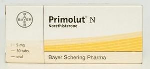 verpakking Primolut N (norethisteron)
