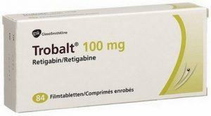 verpakking Trobalt (retigabine) 100 mg tabletten