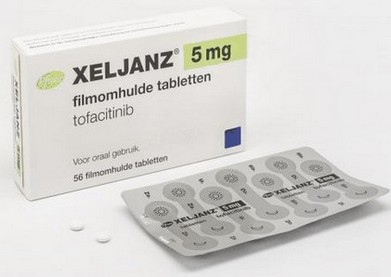 verpakking Xeljanz (tofacitinib) omhulde tabletten