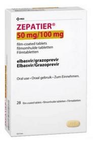 verpakking Zepatier (elbasvir/grazoprevir)