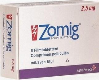 verpakking Zomig (zolmitriptan) tabletten