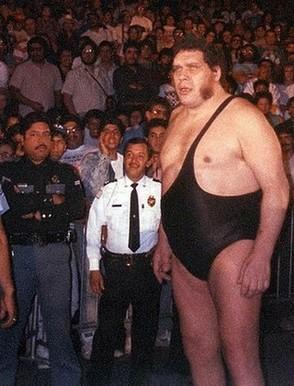 de worstelaar André'the Giant' leed aan reuzengroei