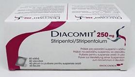 verpakking Diacomit (stiripentol) 250 mg capsules