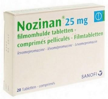 verpakking Nozinan (levomepromazine) 25 mg tabletten