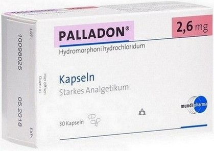 verpakking Palladon (hydromorfon) capsules