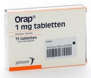 verpakking Orap (pimozide) 1 mg tabletten