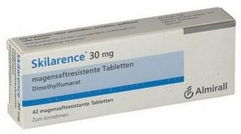 verpakking Skilarence (dimethylfumaraat) 30 mg tabletten