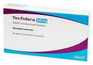 verpakking Tecfidera (dimethylfumaraat) 240 mg tabletten