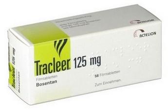 verpakking Tracleer (bosentan) 125 mg tabletten