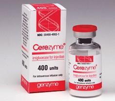 verpakking Cerezyme (imiglucerase)