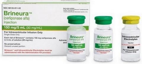 verpakking cerliponase alfa (Brineura)