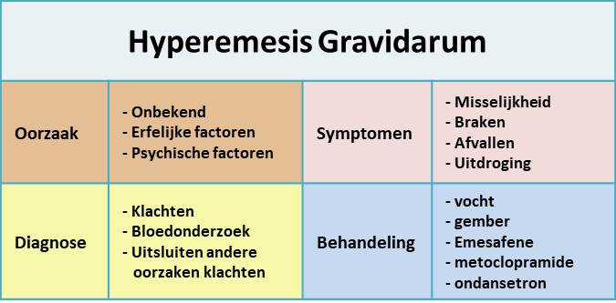 hyperemesis gravidarum - samenvatting
