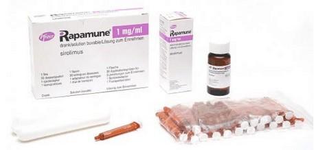 verpakkingen Rapamune (sirolimus)